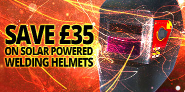 Save £35 on solar powered welding helmets
